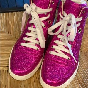 Gucci Pink Sparkle Hightops